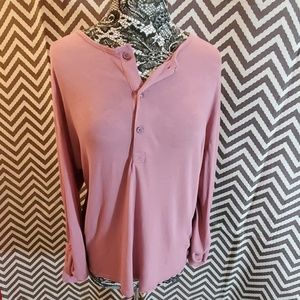 H&M Rose Colored Longsleeved T-Shirt Size L